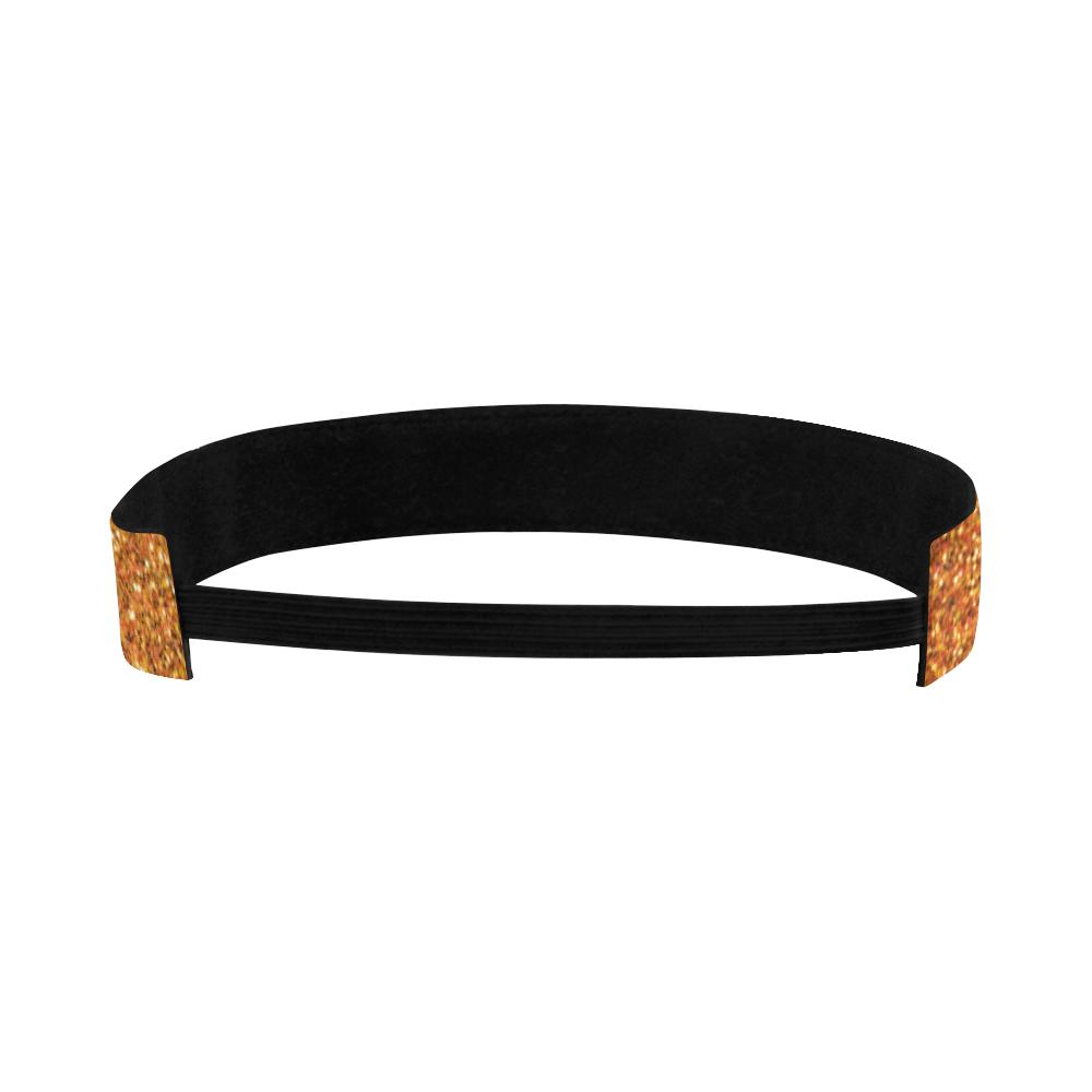gold glitter Sports Headband