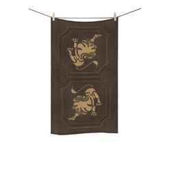 """Leather-Look Zodiac Leo Custom Towel 16""""x28"""""""