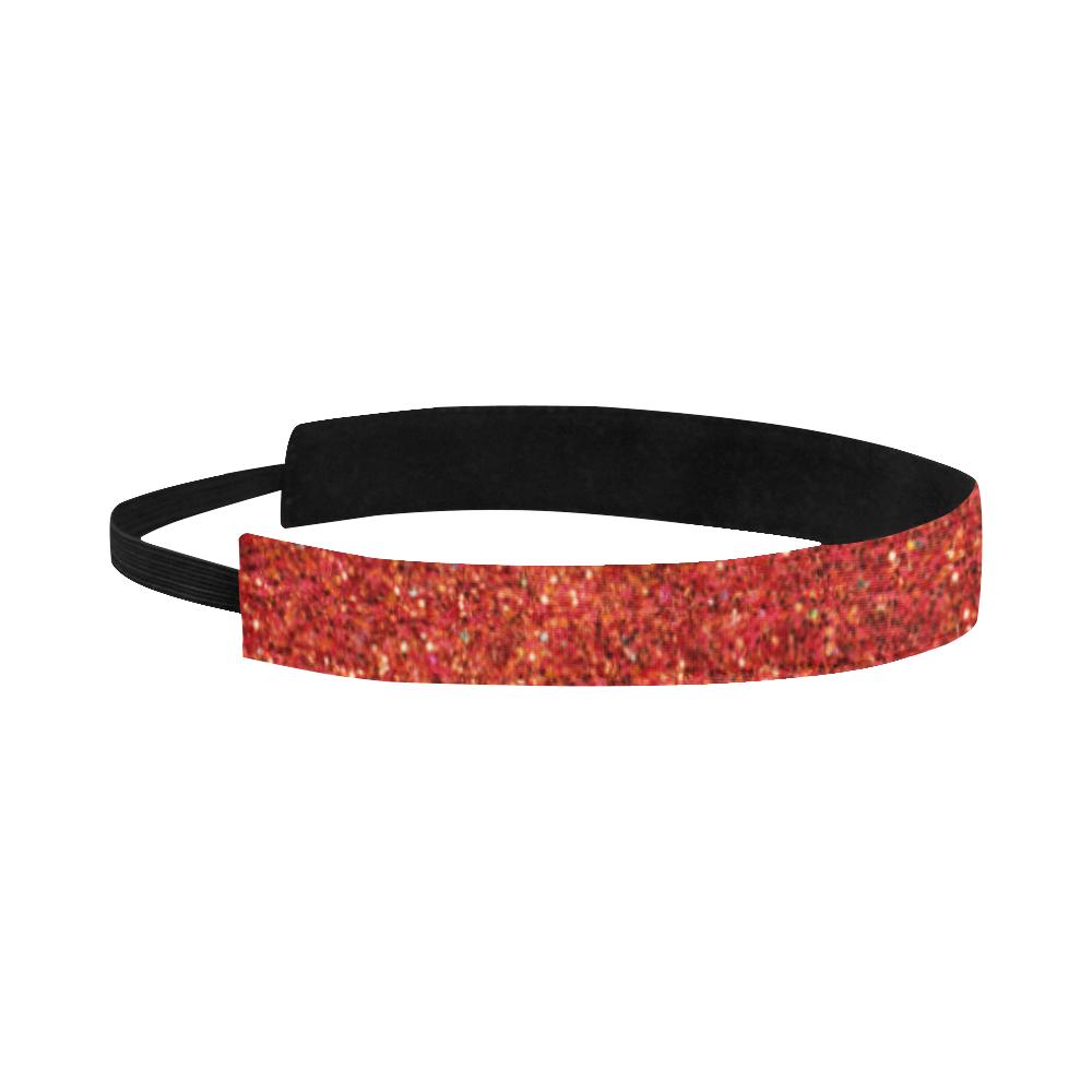 red glitter Sports Headband