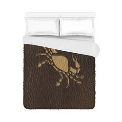 "Leather-Look Zodiac Cancer Duvet Cover 86""x70"" ( All-over-print)"
