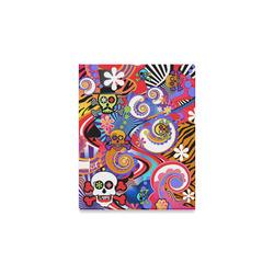 "8x10 Print Canvas by Juleez Sugar Skull Pop Art Colorful Print Canvas Print 8""x10"""