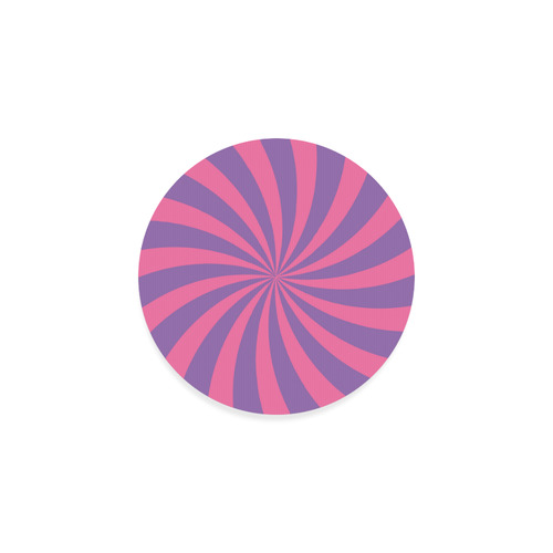 Pink and Purple Swirl Round Coaster
