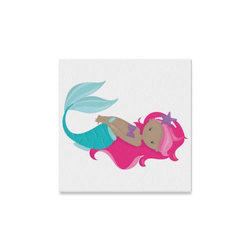 """Mermaid """"Marie"""" Canvas Print 12""""x12"""""""