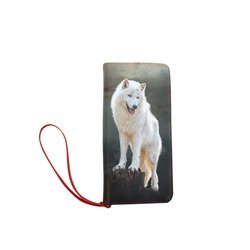 A wonderful painted arctic wolf Women's Clutch Wallet (Model 1637)