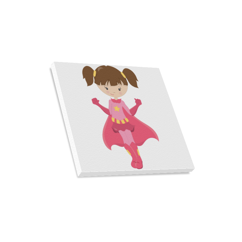"Supergirl Jennifer Canvas Print 16""x16"""
