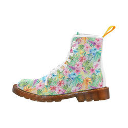 Wispy Summer Floral Martin Boots For Women Model 1203H