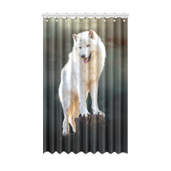 """A wonderful painted arctic wolf Window Curtain 52"""" x 84""""(One Piece)"""