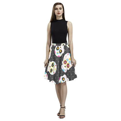 SUGARSKULLS Melete Pleated Midi Skirt (Model D15)