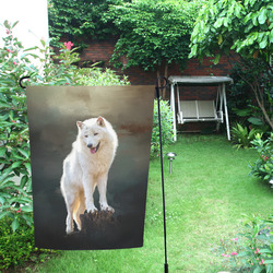 A wonderful painted arctic wolf Garden Flag 12''x18''(Without Flagpole)