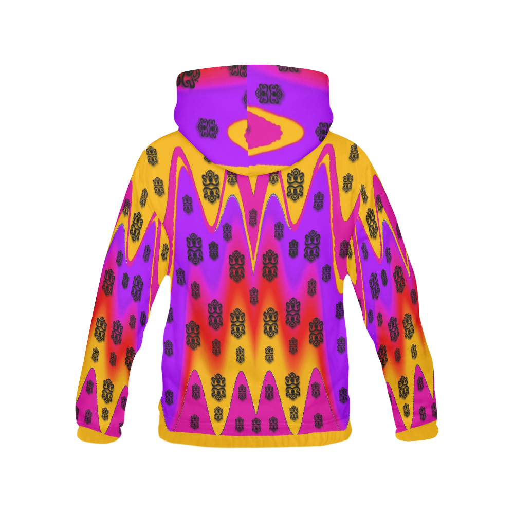 The Big City All Over Print Hoodie for Women (USA Size) (Model H13)