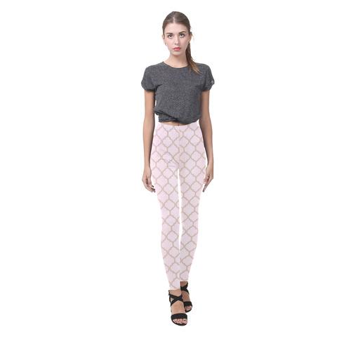 """""""Pretty in Pink"""" Cassandra Women's Leggings (Model L01)"""