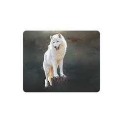 A wonderful painted arctic wolf Rectangle Mousepad
