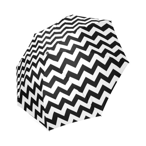 Black Chevron Foldable Umbrella (Model U01)