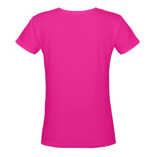 Swag Bag Central Women's Deep V-neck T-shirt (Model T19)