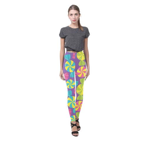 """Candy Crazy"" Cassandra Women's Leggings (Model L01)"