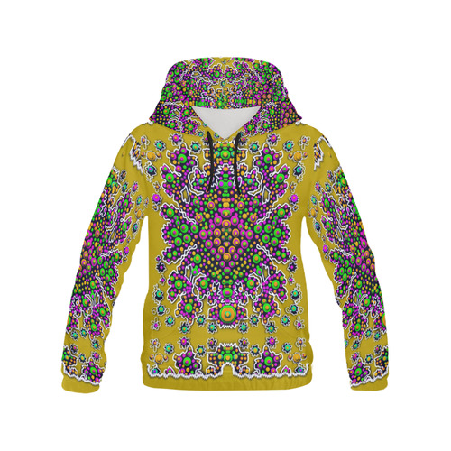 Peacock in peace All Over Print Hoodie for Women (USA Size) (Model H13)