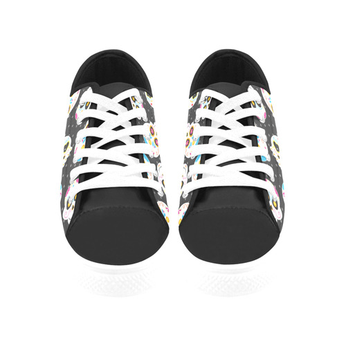 Sugarskulls Aquila Microfiber Leather Women's Shoes/Large Size (Model 031)