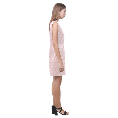 Pretty in Pink Phoebe Sleeveless V-Neck Dress (Model D09)