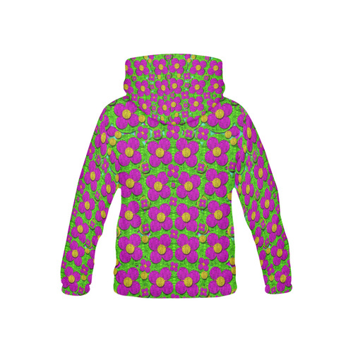 Bohemian big flower of the power All Over Print Hoodie for Kid (USA Size) (Model H13)