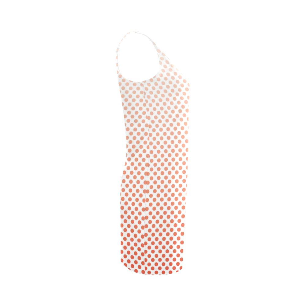 Red Ombre Dots Medea Vest Dress (Model D06)
