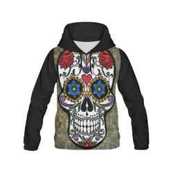 Skull20150806b_by_JAMColors All Over Print Hoodie for Women (USA Size) (Model H13)