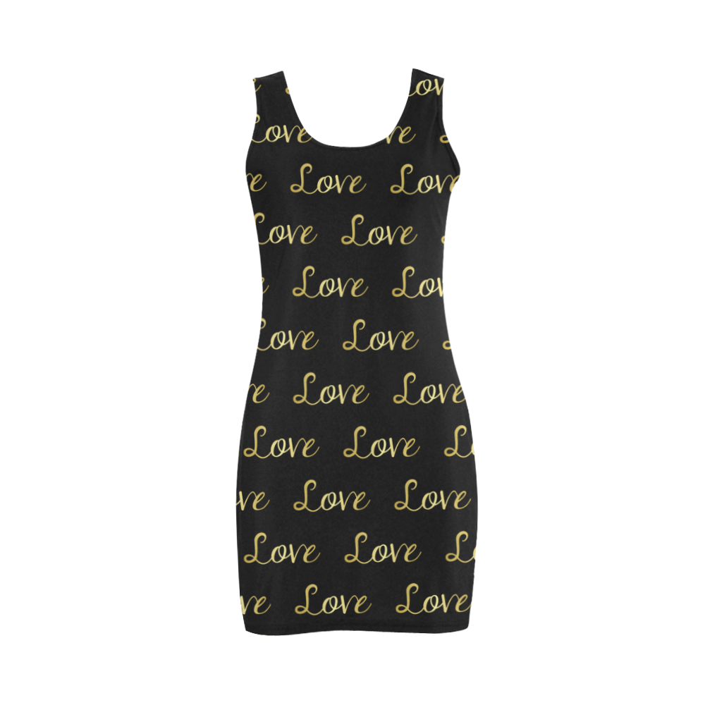 Black and Gold LOVE Medea Vest Dress (Model D06)