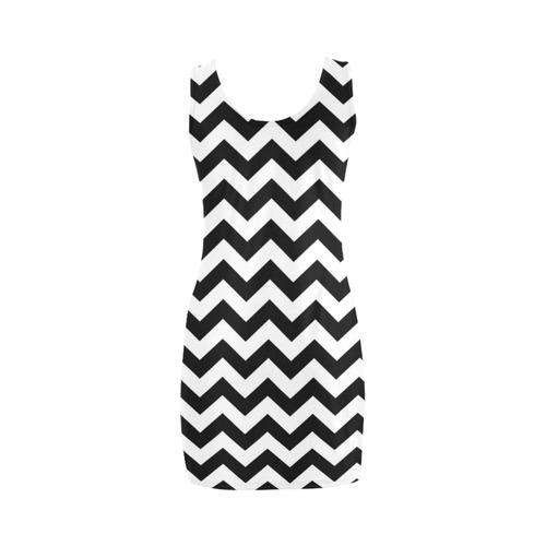 Black Chevron Medea Vest Dress (Model D06)