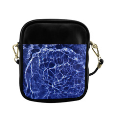 Electric Blue Globe Sling Bag (Model 1627)