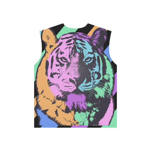 TIGER MULTICOLOR All Over Print T-Shirt for Men (USA Size) (Model T40)