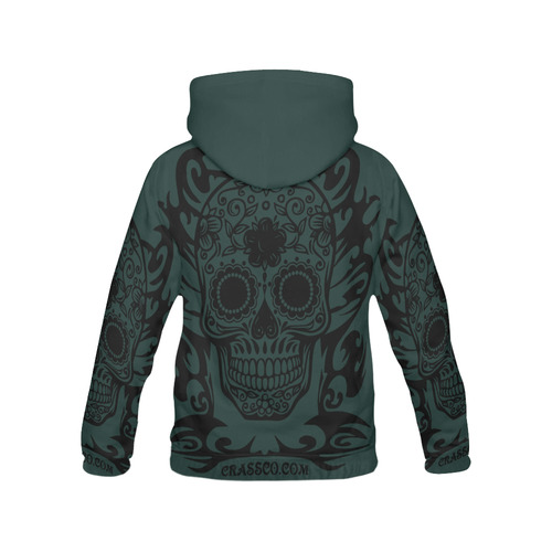 SKULL TRIBAL FOREST WOOD All Over Print Hoodie for Men (USA Size) (Model H13)