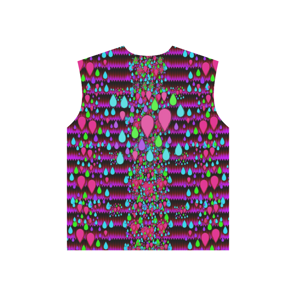 Raining rain and mermaid shells Pop art All Over Print T-Shirt for Men (USA Size) (Model T40)