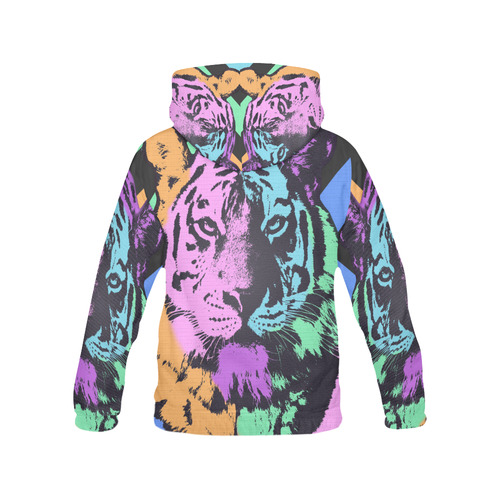 TIGER MULTICOLOR All Over Print Hoodie for Men (USA Size) (Model H13)