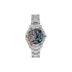 TIGER COLOR Men's Stainless Steel Analog Watch(Model 108)