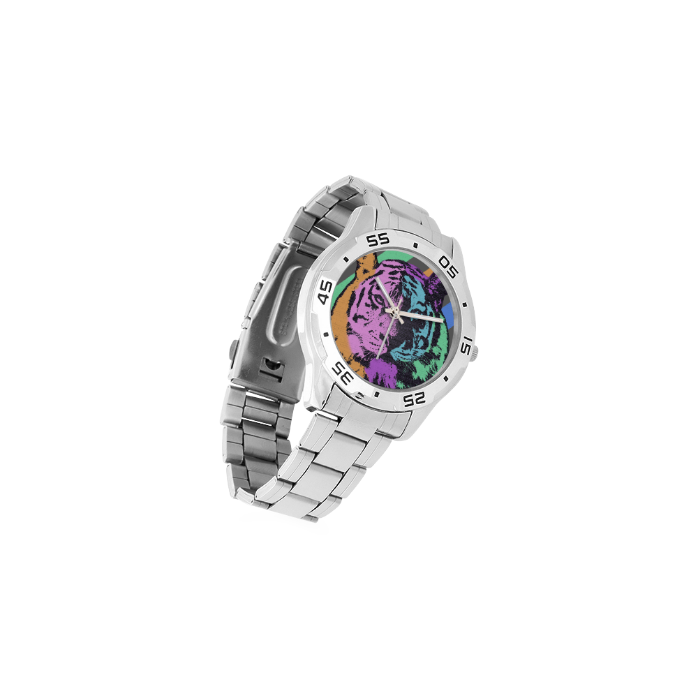 TIGER MULTICOLOR Men's Stainless Steel Analog Watch(Model 108)