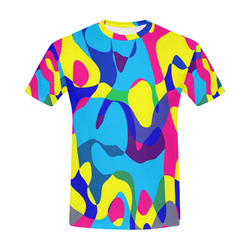 Colorful chaos All Over Print T-Shirt for Men (USA Size) (Model T40)