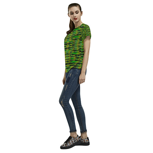 Just Tulips All Over Print T-Shirt for Women (USA Size) (Model T40)
