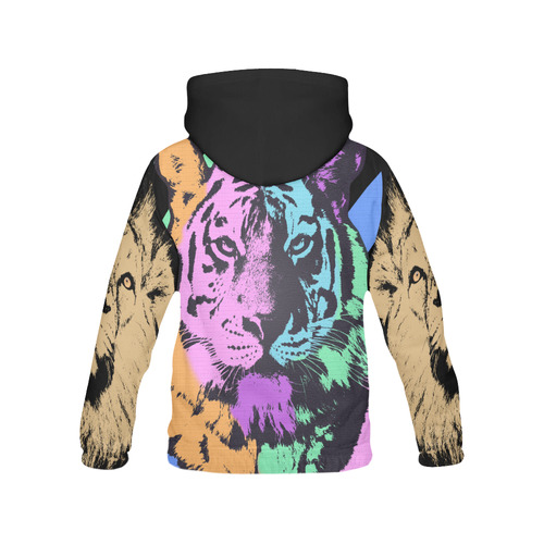 TIGER AND LION All Over Print Hoodie for Men (USA Size) (Model H13)