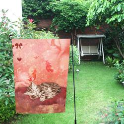 Sweet little sleeping kitten Garden Flag 12''x18''(Without Flagpole)