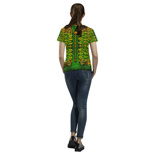 Magical forest of freedom and hope All Over Print T-Shirt for Women (USA Size) (Model T40)