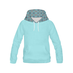 Island Paradise Blue X Geometric All Over Print Hoodie for Women (USA Size) (Model H13)