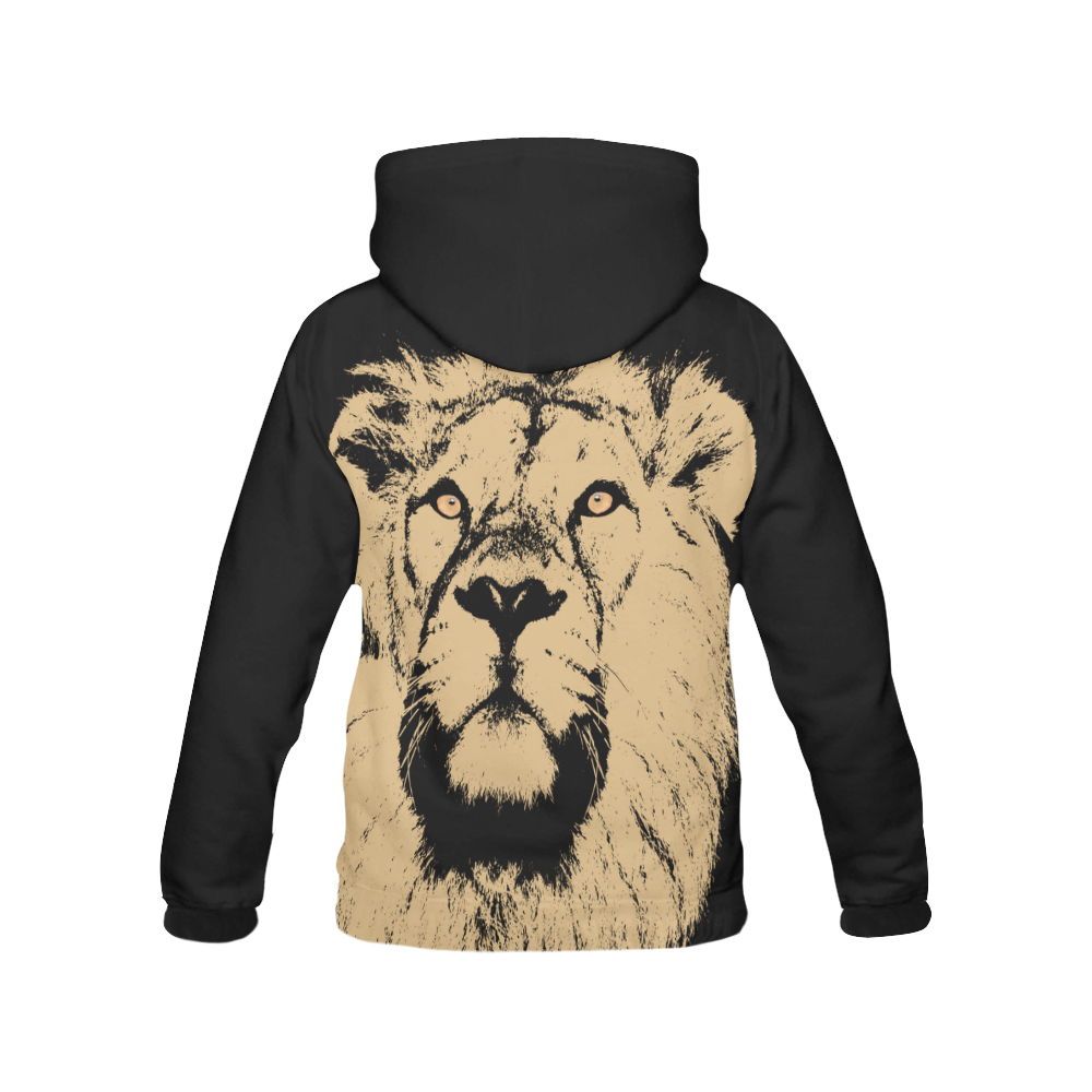 LION All Over Print Hoodie for Men (USA Size) (Model H13)