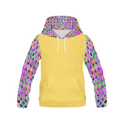 Crazy Daisy All Over Print Hoodie for Women (USA Size) (Model H13)