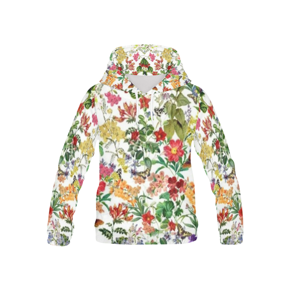 FLOWER2 All Over Print Hoodie for Kid (USA Size) (Model H13)
