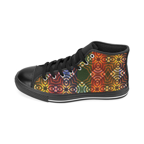 Batik Maharani #3 - Jera Nour Men's Classic High Top Canvas Shoes /Large Size (Model 017)