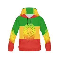 Rastafari Lion Flag green yellow red All Over Print Hoodie for Men (USA Size) (Model H13)