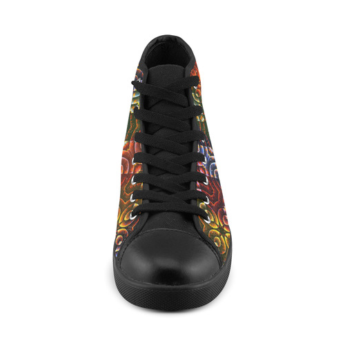 Batik Maharani #3 - Jera Nour High Top Canvas Women's Shoes/Large Size (Model 002)