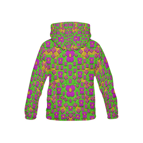 Flower Power POP Art All Over Print Hoodie for Kid (USA Size) (Model H13)
