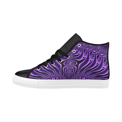 Exquisite Purple Sunset Fractal Abstract Aquila High Top Microfiber Leather Women's Shoes (Model 032)