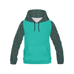 Dark Multicolored All Over Print Hoodie for Women (USA Size) (Model H13)