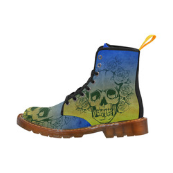 Skull with roses, gradient 2 Martin Boots For Women Model 1203H